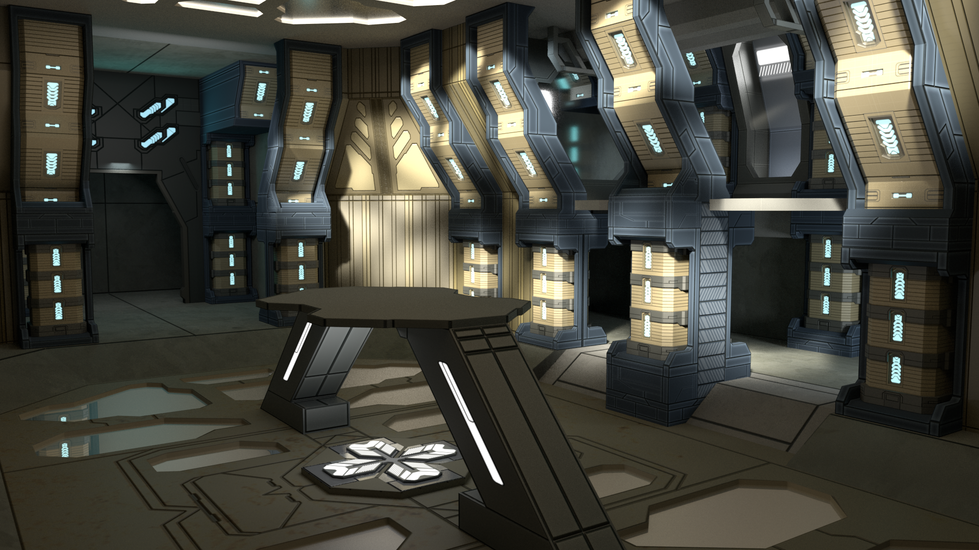 Halo Map 3D Model – Citadel – Code Play Sleep
